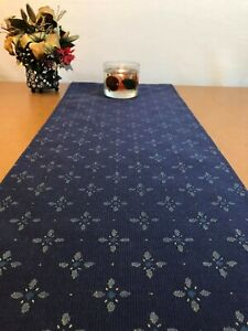 57 x 12 inch TABLE RUNNER Navy, Multicolored Circle