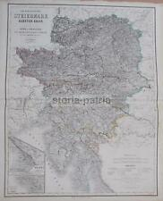 ANTICA CARTOGRAFIA_EUROPA_AUSTRIA_GERMANIA_VENETO_TRIESTE_POLA_CROAZIA_TIROLO