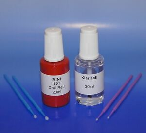 Lackstift-Set MINI 851 Chili Red, 2 x 20ml + 4 Lacktupfer