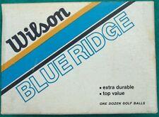 Rare Vintage Unused Box Wilson Blue Ridge #3 Golf Balls One Dozen 12 With Bonus!