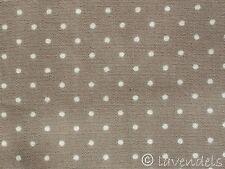Stoff Baumwolle Ökotex ♥ taupe Pünktchen Popelin dots beige braun Punkte