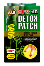 US Jaclean SUPER GOLD FOOT DETOX BAMBOO POWER Made in Japan 32 PATCHES