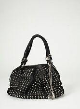 CHRISTIAN LOUBOUTIN Black Calfskin Studded Handbag