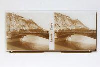 Francia Grenoble L Isère Foto Stereo T2L6n Placca Da Lente Vintage