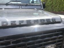 Defender Bonnet Letters/Lettering Badge With Template. Land Rover. Gloss Black.