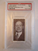 1938 JACK SMITH BOXING CHURCHMAN PSA GRADED 7 NEAR - MINT CARD