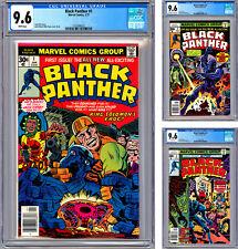 BLACK PANTHER #1-2-3 CGC 9.6 JACK KIRBY STORIES CVRS & ART PREMIERE ISSUES 1977