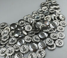 100pcs Vintage Resin Buttons Carving 4-holes decoration crafts Round sewing 15mm
