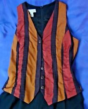 Ann Taylor Jumpsuits One Piece Overall Ramper Black with Striped Vest Size 4