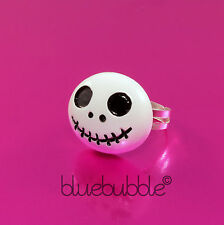 FUNKY BLACK WHITE JACK RING NIGHTMARE KITSCH XMAS EMO CUTE SKELETON SKULL GOTH