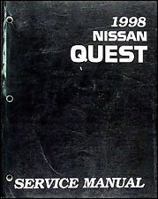 1998 Nissan Quest Van Shop Repair Manual Original 98