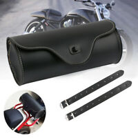 Universel Sacoche Sac Outils Moto Trousse Côté PU Cuir Pour Harley Honda Suzuki