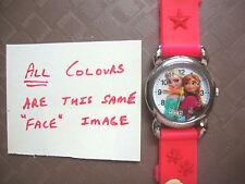 Kid's Frozen Anna Elsa Analogue Silicone Band wrist watches NEW 10 Colour U-pick