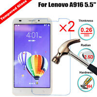 2Pcs 9H Premium Tempered Glass Screen Protector Protection Guard Film For Lenovo
