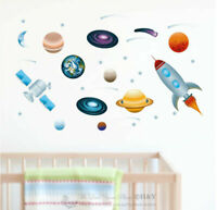 Outer Space Collection Wall Stickers Nursery Decal Kids Boys Room Decor Gift DIY