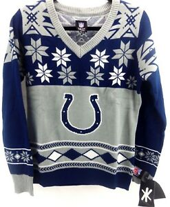 NWT Indianapolis Colts NFL Long Sleeve Pullover Ugly Sweater Womens Small