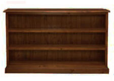Benji 3x5 Low but Very Wide Walnut Timber Bookcase - BRAND NEW