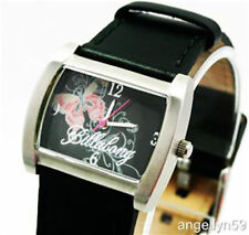 BILLABONG WATCH FLUTTER BUTTERFLY LADIES GIRLS REAL LEATHER Black 50mts NEW