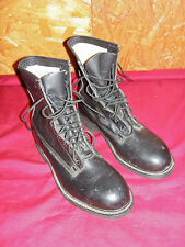 Mens Size 7 ½ Steel Toe Boots Black Leather Lace Up 7.5 Motorcycle Army Safety D
