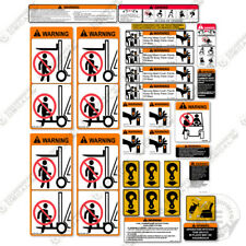 Caterpillar Forklift Safety Decal Kit - Warning Stickers - (Based on C-6000)