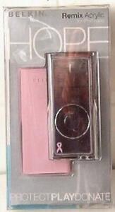Belkin F8Z154-SGK P58760 Remix Acrylic Case 4 iPod nano Komen Cure Pink / Brown