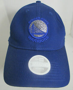 Golden State Warriors Hat Women Med or Youth Lg Strapback New Era NBA Cap  slvgt