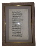 1488, ORIGINAL LEAF FROM THE FIRST EDITION OF HOMER'S ODYSSEY, INCUNABLE LEAF