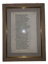1488, HOMER'S ODYSSEY, ORIGINAL LEAF FROM THE FIRST EDITION, INCUNABLE LEAF
