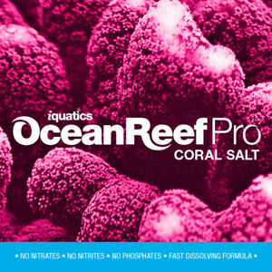 iQuatics Ocean Reef Pro Marine Saltwater Coral Premium Aquarium Salt-20KG-Refill