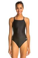 SPEEDO Women's Black PowerFLEX Eco Swimsuit 819006 $64 NWT