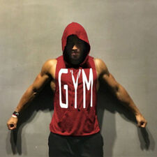 Gym Hot Men Clothing Hoodie Stringer Bodybuilding Tank Top hooded Muscle Shirt