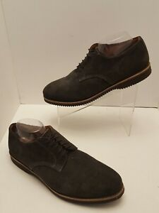 WALK-OVER ABRAM MENS BROWN LEATHER SUEDE LACE UP OXFORD SHOES 10.5 M EUC