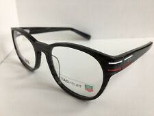 New TAG Heuer TH 0532 532 003 51mm Gray Round Men's Eyeglasses Frame France