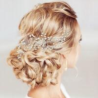 Bridal Hair Accessories Comb Pearl Crystal Headpiece Wedding Hair Pins Clips AU