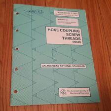Hose Coupling Screw Threads, 1992/2003, ASME American National Standard
