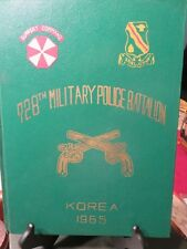 1965 Yearbook 728th MIlitary Police Battalion Support Command Korea ROK    #LN
