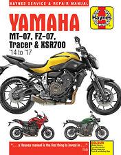 6385 Haynes Yamaha MT-07, Tracer & XSR700 (2014 to 2017) Workshop Manual