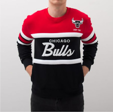 Chicago Bulls Mitchell & Ness NBA Men's Head Coach Crew Sweatshirt