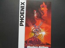 Western Airlines  Travel Poster Phoenix  From American Express Travel Office