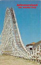 "ALTOONA IA 1978 Riding ""The Tornado"" Wooden Roller Coaster @ Aventureland rl460"