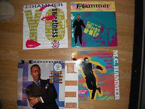 "MC HAMMER 4 x 12"" SINGLES PLEASE SWEETNESS PUT ME HAVE YOU"
