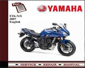 Yamaha FZ6-N/S 2007 Service Repair Workshop Manual