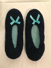Womens Balllerina Winter Slippers Slip-on House Shoes Size 7-8 Medium Pre-Owned