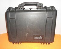 """Pelican 1450 Black Case With Foam - Black """"16X13X6.82"""" IN GOOD USED CONDITION!"""