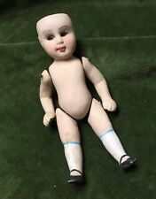Antique Thuringia Doll German Unglazed Porcelain China Hand Painted Moving Limbs