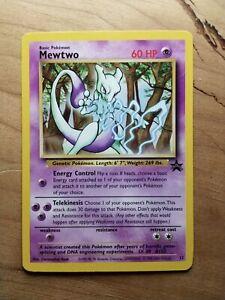 Pokemon WotC Black Star Rare Promo Mewtwo #12 NEAR MINT NEVER PLAYED
