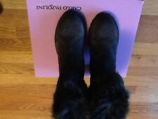 Brand New in Box CARLO PAZOLINI Winter Suede Boots Sz 38 Made in Italy