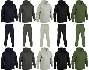 Mens Plain Hoodie & Joggers |*Tracksuit (Sold as Separates)