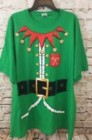 Elf christmas shirt mens large tshirt costume green ugly sweater new funny F3