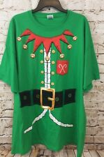 Elf shirt costume mens 2XL christmas  green ugly sweater new funny F3